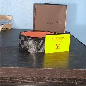 Black louis vuitton belt size 46